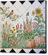 Espinosa's Flower Garden Tile Mural Acrylic Print by Julia Sweda