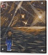 Etestska Lying On Pluto Acrylic Print by Keith Gruis