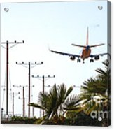 Even Airplanes Obey Traffic Signs Acrylic Print by Deborah Smolinske