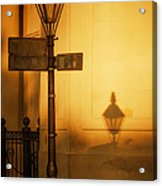 Evening Shadow In Jackson Square Acrylic Print by Brenda Bryant