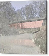 Everett Covered Bridge Acrylic Print by Jack R Perry