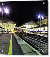 Exeter St Davids By Night  Acrylic Print by Rob Hawkins