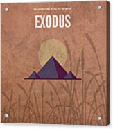 Exodus Books Of The Bible Series Old Testament Minimal Poster Art Number 2 Acrylic Print by Design Turnpike