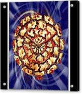 Exploding Clock Acrylic Print by Mike McGlothlen