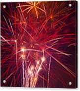 Exploding Fireworks Acrylic Print by Garry Gay