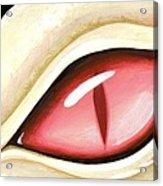 Eye Of The Albino Dragon Acrylic Print by Elaina  Wagner