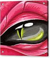 Eye Of The Rubellite Dragon Acrylic Print by Elaina  Wagner
