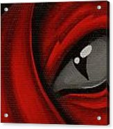Eye Of The Scarlett Hatching Acrylic Print by Elaina  Wagner