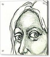 Eyes - The Sketchbook Series Acrylic Print by Michelle Calkins