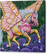 Faery Horse Hope Acrylic Print by Beth Clark-McDonal