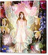Fairy Crowning Acrylic Print by Garry Walton