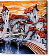 Fairy Tale City - Magic Stream Acrylic Print by Emerico Imre Toth
