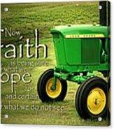 Faith And Hope Acrylic Print by Linda Fowler