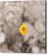 Faith Acrylic Print by Barbara Shallue
