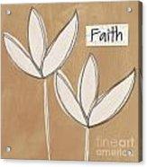 Faith Acrylic Print by Linda Woods