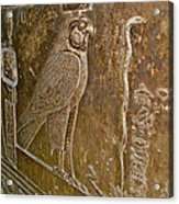 Falcon Symbol For Horus In A Crypt In Temple Of Hathor In Dendera-egypt Acrylic Print by Ruth Hager