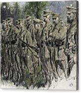 Fall In Norfolk Volunteers Acrylic Print by Frank Gillett