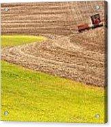 Fall Plowing Acrylic Print by Doug Davidson