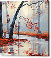Fall River Painting Acrylic Print by Graham Gercken