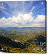 Fall Scene From North Fork Mountain Acrylic Print by Dan Friend
