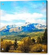 Fall Season In The Sierras Acrylic Print by Don Bendickson