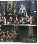 Fallen Last Supper Bad Guys Acrylic Print by Ylli Haruni