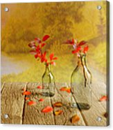 Fallen Leaves Acrylic Print by Veikko Suikkanen
