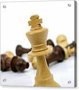 Falling Chess Piece Acrylic Print by Bernard Jaubert