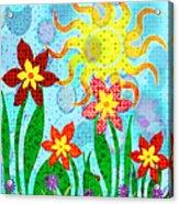 Fanciful Flowers Acrylic Print by Shawna  Rowe