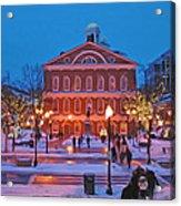 Faneuil Hall Holiday- Boston Acrylic Print by Joann Vitali