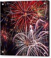 Fantastic Fireworks Acrylic Print by Garry Gay