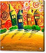 Fantasy Art - The Village Festival Acrylic Print by Nirdesha Munasinghe