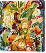 Fantasy Floral 1 Acrylic Print by Carole Goldman