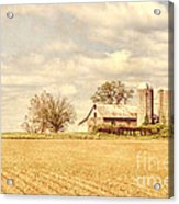 Farm And Fields  Acrylic Print by Olivier Le Queinec