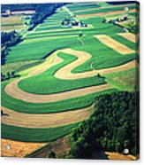 Farm Designs Pennsylvania Aerial Acrylic Print by Blair Seitz