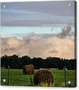 Farm Field Drama Acrylic Print by Dan Sproul