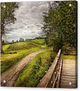 Farm - Landscape - Jersey Crops Acrylic Print by Mike Savad