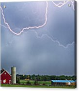 Farm Storm Hdr Acrylic Print by James BO  Insogna