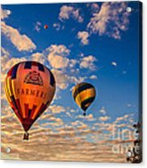 Farmer's Insurance Hot Air Ballon Acrylic Print by Robert Bales