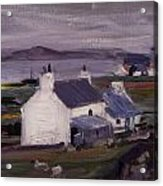 Farmsteading Acrylic Print by Francis Campbell Boileau Cadell