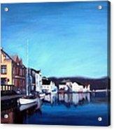 Farsund Dock Scene I Acrylic Print by Janet King