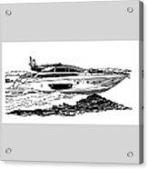 Fast Riva Motoryacht Acrylic Print by Jack Pumphrey