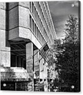 Fbi Building Modern Fortress Acrylic Print by Olivier Le Queinec