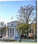 Federal Reserve Building Acrylic Print by Olivier Le Queinec