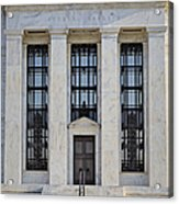 Federal Reserve Acrylic Print by Susan Candelario