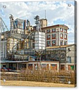 Feed Mill Hdr Acrylic Print by Charles Beeler