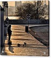 Feeding The Birds At Dawn Acrylic Print by Bill Cannon