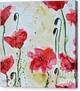 Feel The Summer 1 - Poppies Acrylic Print by Ismeta Gruenwald