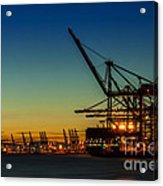 Felixstowe Docks Acrylic Print by Svetlana Sewell