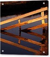 Fenced Reflection Acrylic Print by Bill Gallagher
